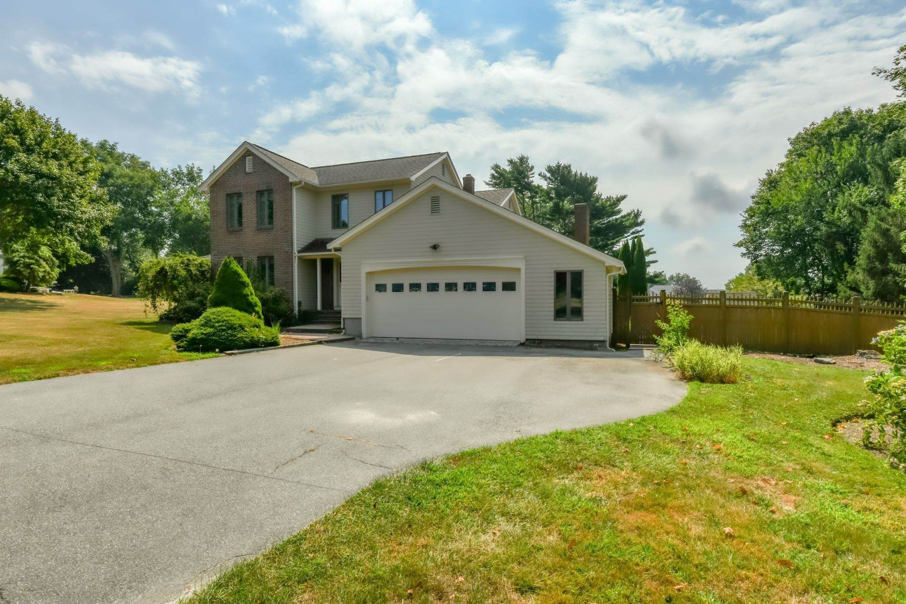 Single Family Homes for Sale at Quiet Colonial with Backyard Pool 48 Island View Drive Tiverton, Rhode Island 02878 United States