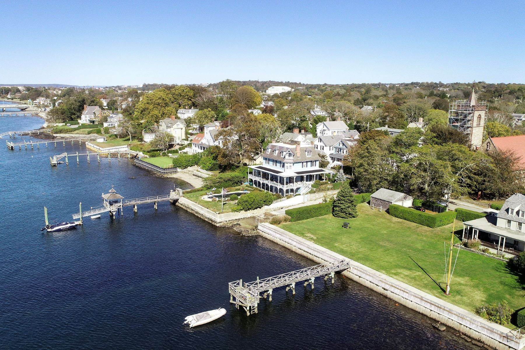 Single Family Homes for Sale at Sanford-Covell House on Newport Harbor 72 Washington Street Newport, Rhode Island 02840 United States