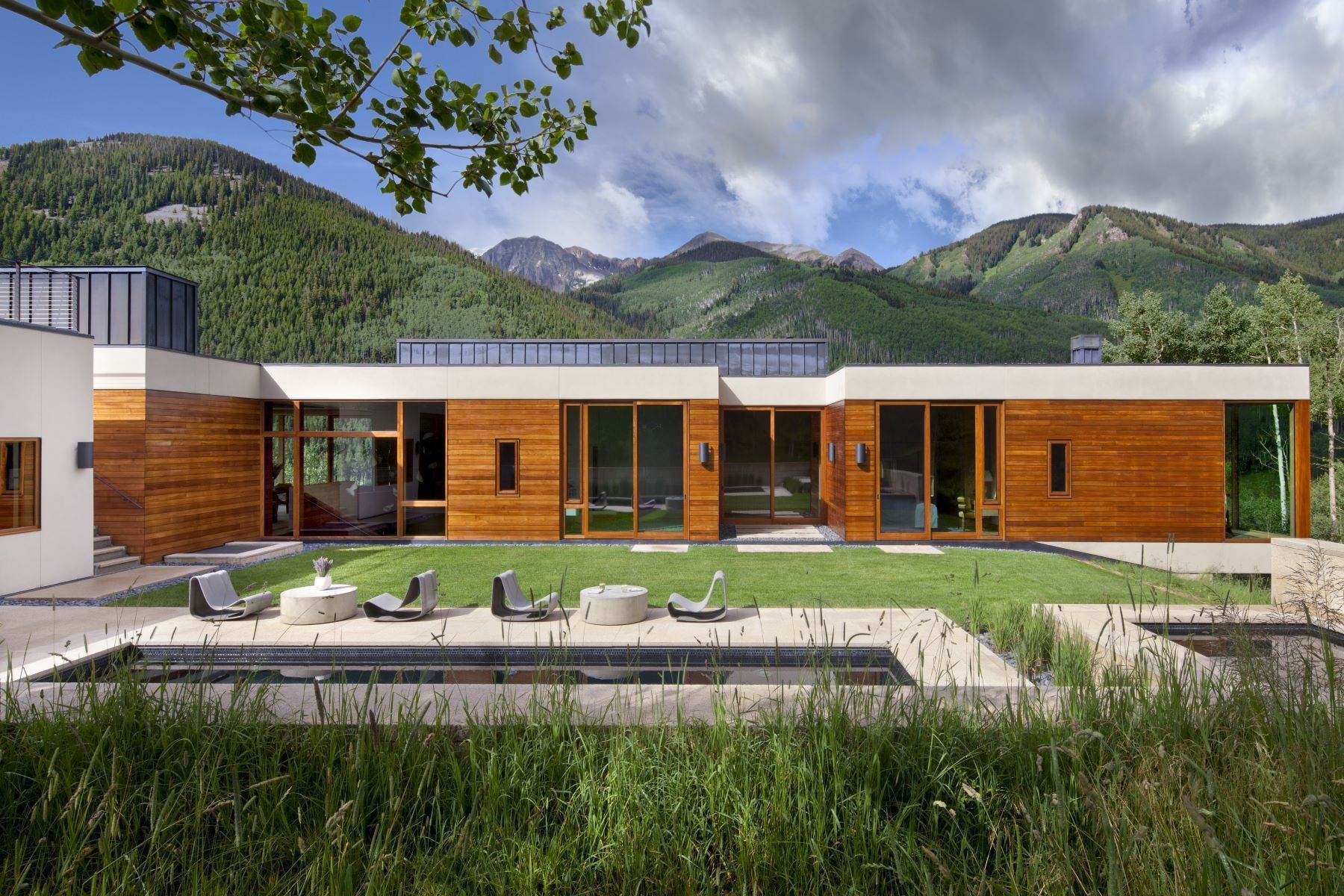 Single Family Homes for Sale at Exquisite Modern Sanctuary 8720/8716 Castle Creek Road Aspen, Colorado 81611 United States