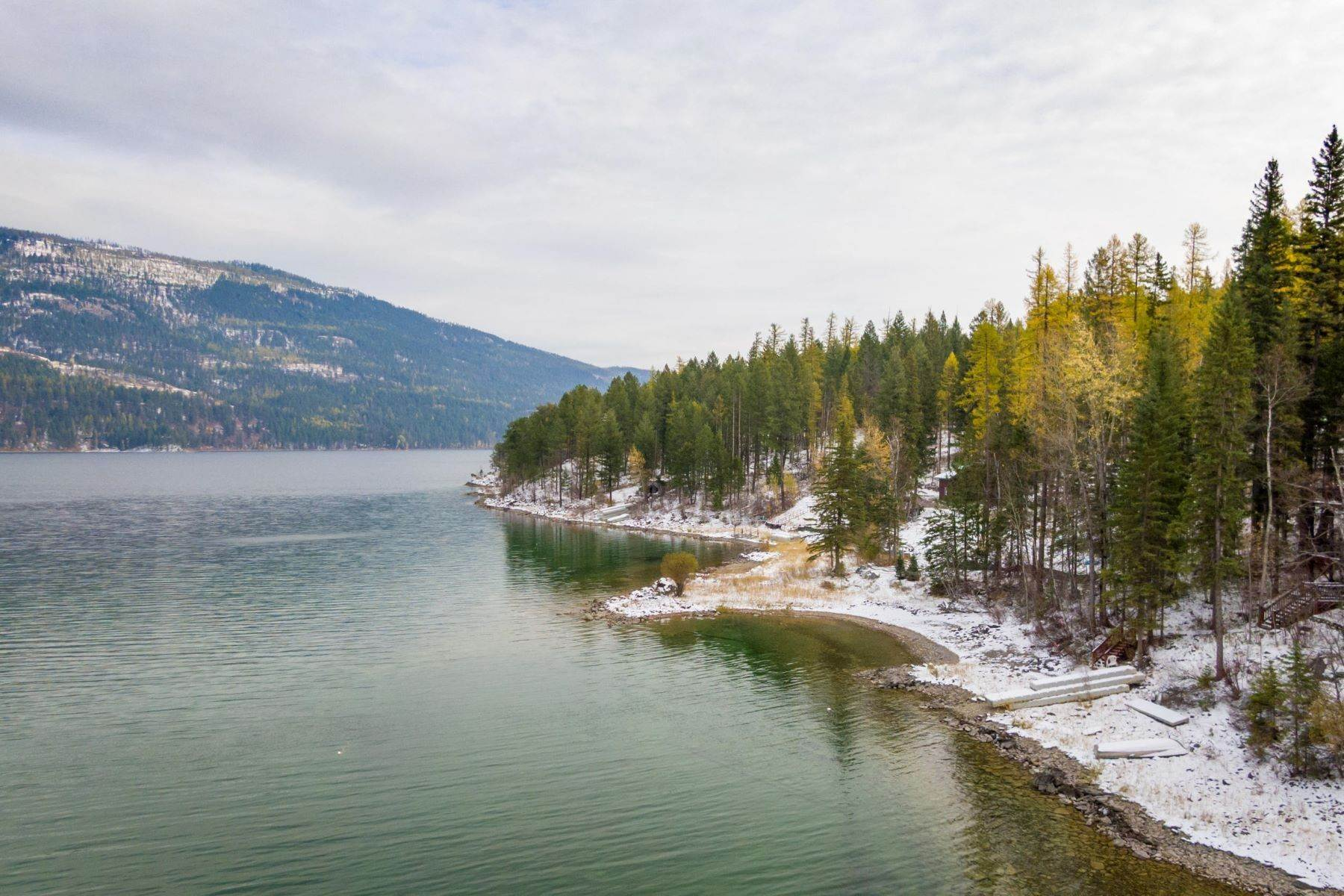Single Family Homes for Sale at Whitefish Lake Frontage 737 Delrey Road Whitefish, Montana 59937 United States