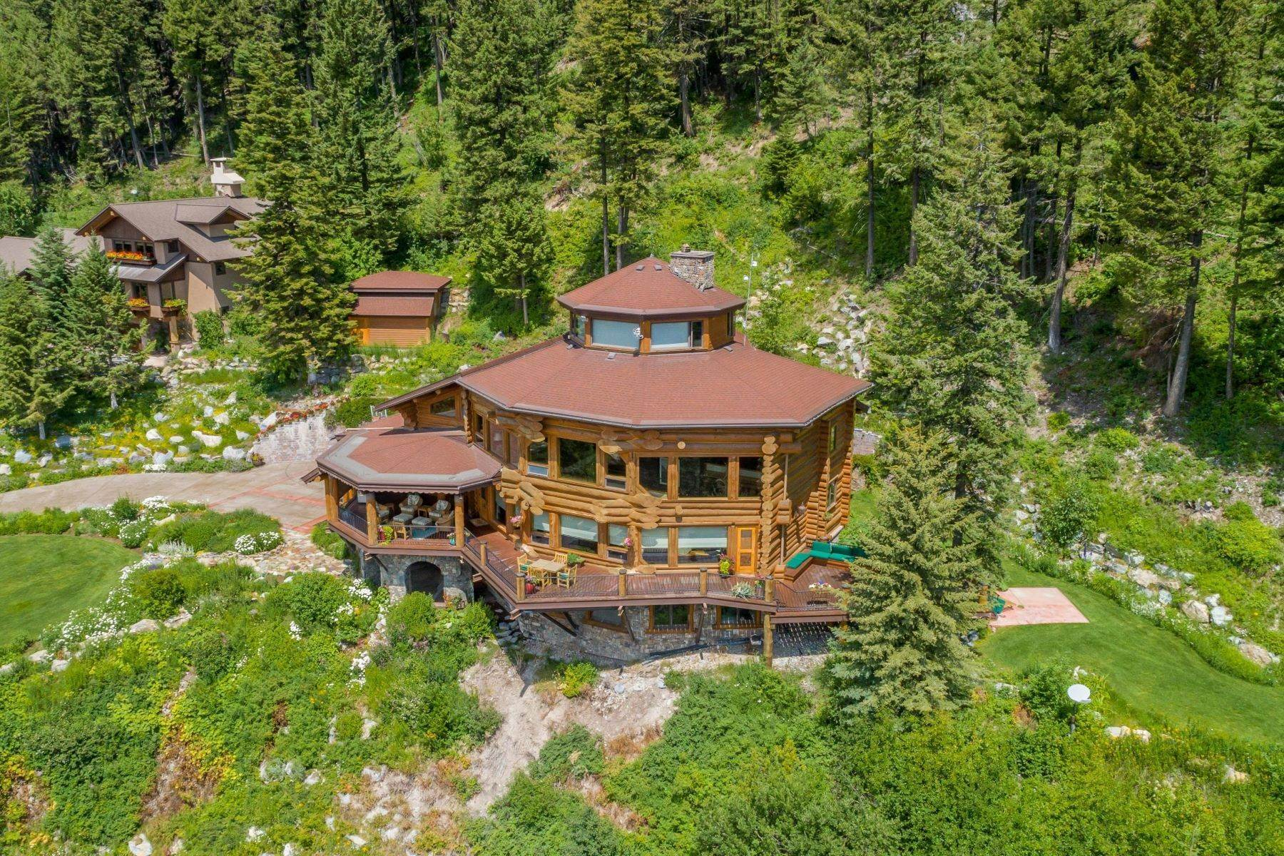 Single Family Homes for Sale at Overlooking Whitefish Lake 87 Eagles Nest Lane Whitefish, Montana 59937 United States