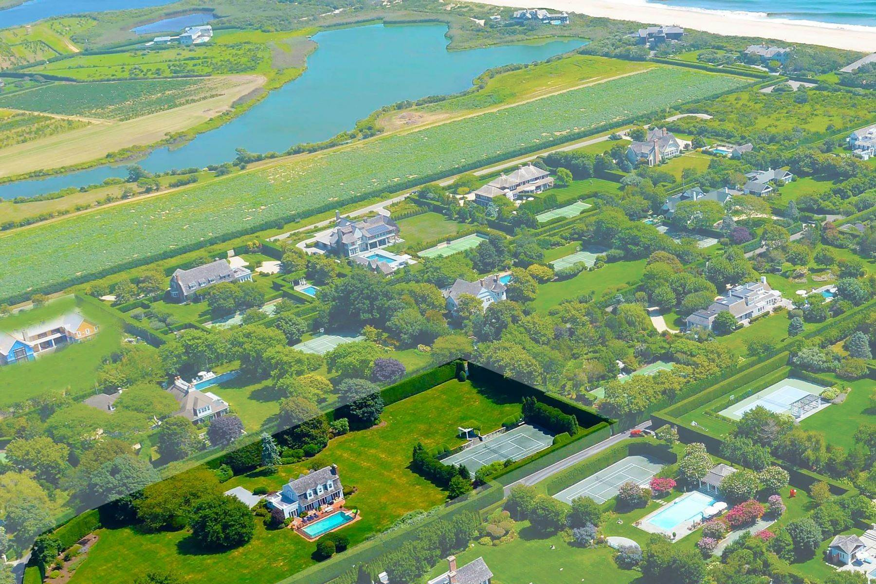 Single Family Homes for Sale at Oceanside Compound Southampton Village 181 Murray Place Southampton, New York 11968 United States